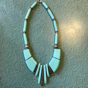 Monet Halter Vintage Necklace Aqua
